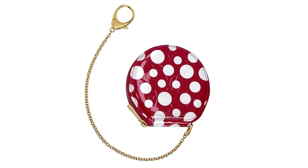 Monogram Vernis Dots Infinity Chapeau Coin Purse Red