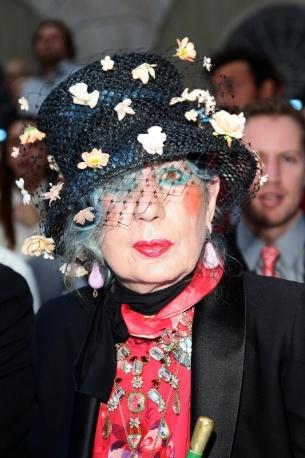 Anna Piaggi nel 2011