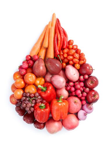 Dieta colori rosso