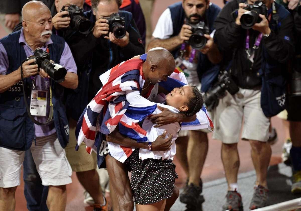 Mo Farah e la figlia Rihanna