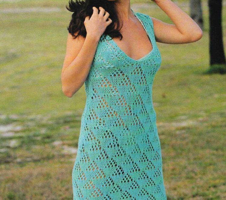 Crea un abito turchese con i nostri lavori a maglia