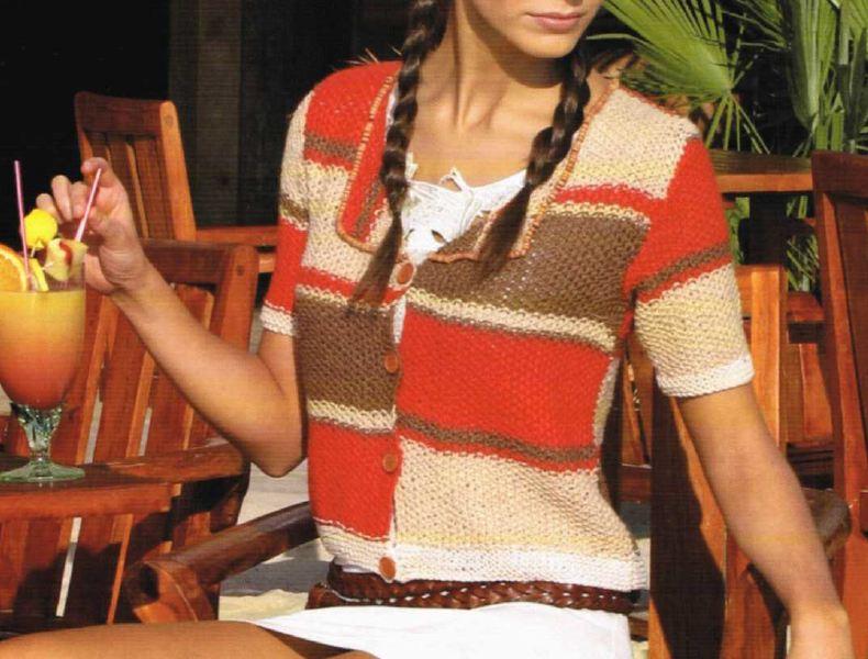 Crea un cardigan multicolor con i nostri schemi maglia