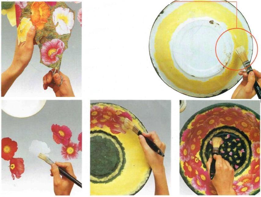 Catino decoupage floreale istruzioni