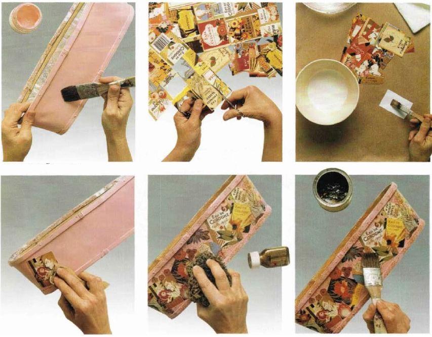 Istruzioni decorazione scatola in legno portaprofumi decoupage