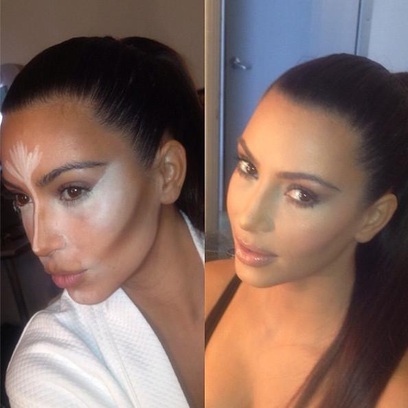 Base trucco, dritte per un viso scolpito come Kim Kardashian