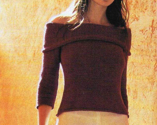 Crea un pull a spalle scoperte con i nostri lavori a maglia