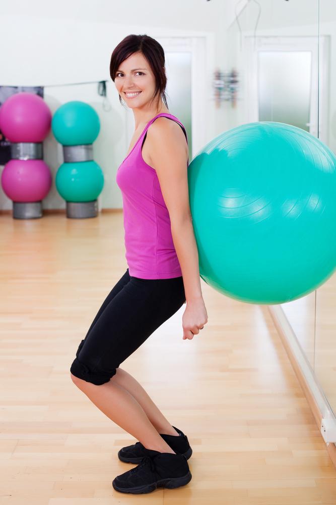 fitness ball squat gag