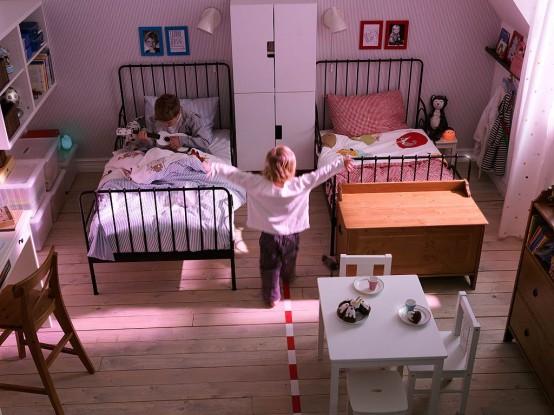 Camerette bambini Ikea doppia