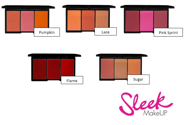 I trio blush di Sleek