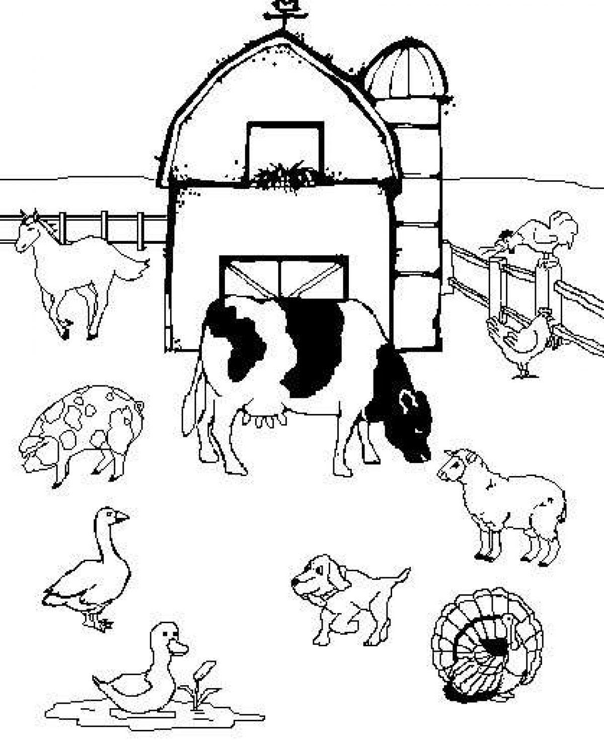 Disegni Per Bambini Da Colorare Con Gli Animali Della Fattoria