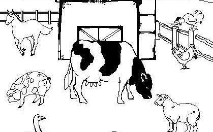 Disegni per bambini da colorare con gli animali della fattoria [FOTO]