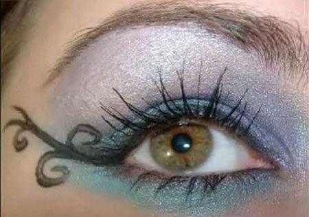halloween trucco occhi decorato