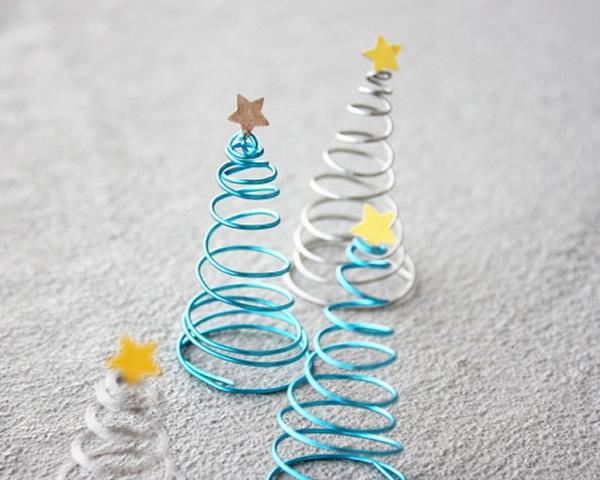 Albero di Natale fai da te fil di ferro