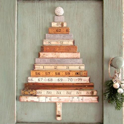 Albero di Natale fai da te metro