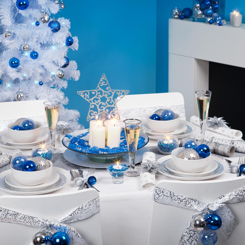 Tavola Natale azzurra