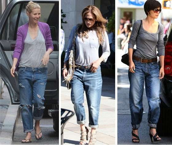 Boyfriend jeans per le star