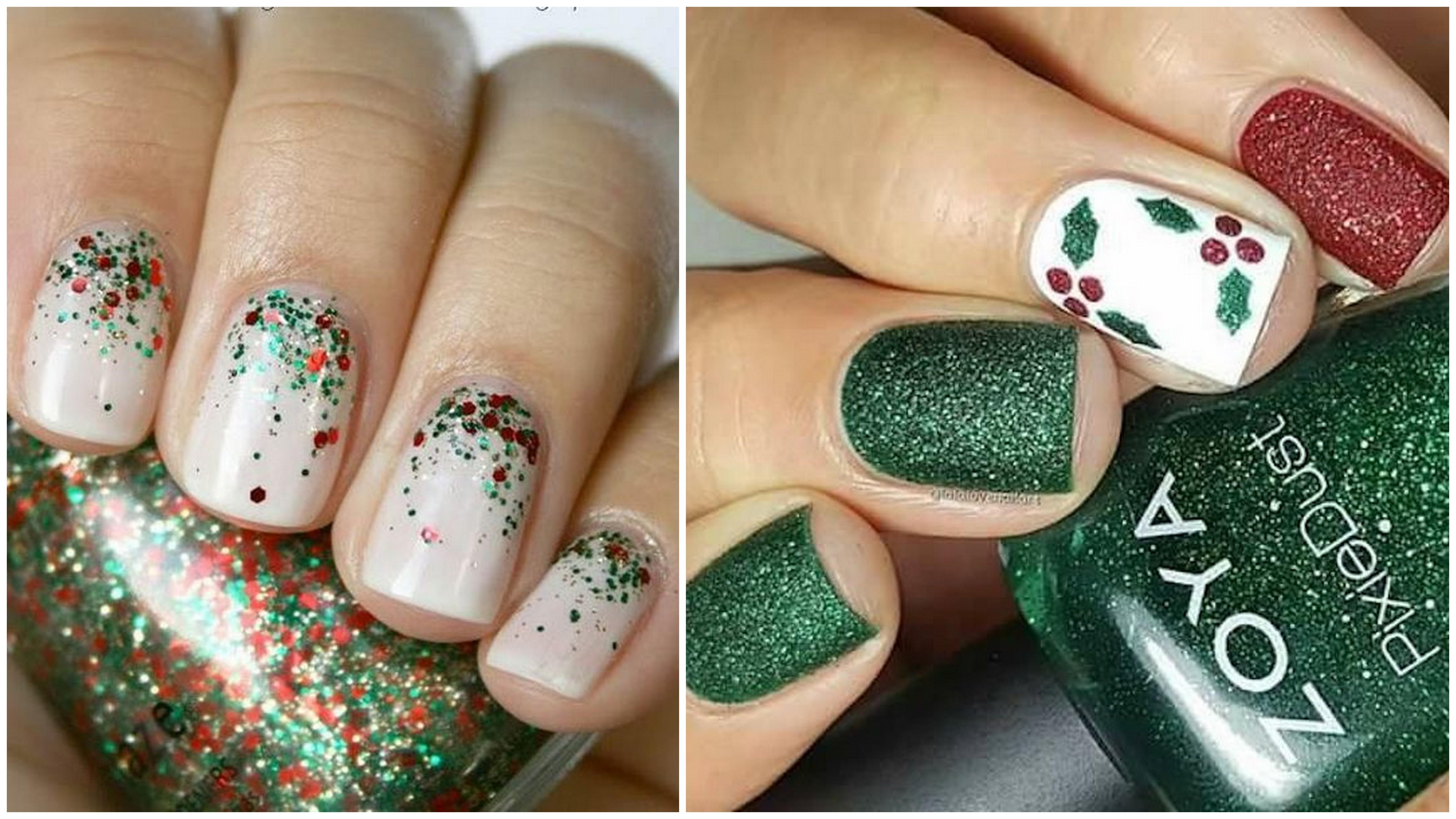 decorazioni natalizie unghie gel