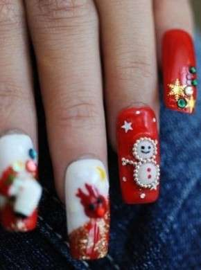 Unghie gel natalizie, le più belle e divertenti per festeggiare il Natale