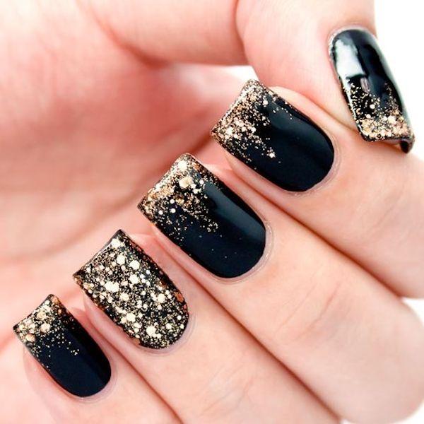 unghie natalizie glitter