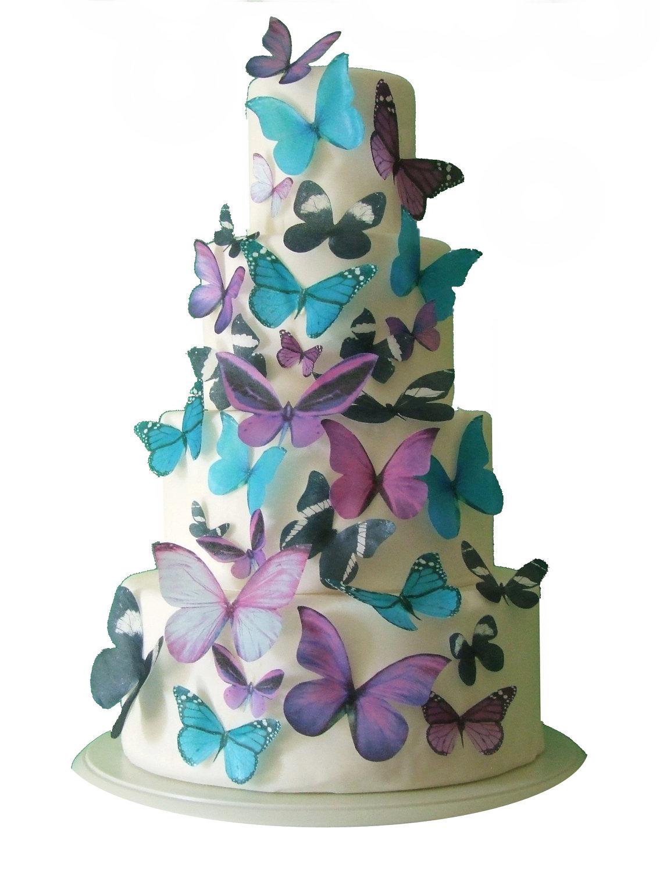 decorazioni torte nuziali farfalle