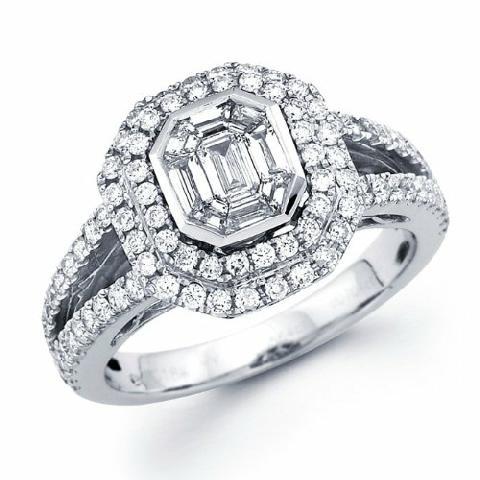 anello di fidanzamento pave diamanti