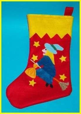 Epifania: calza della Befana fai da te con il pannolenci