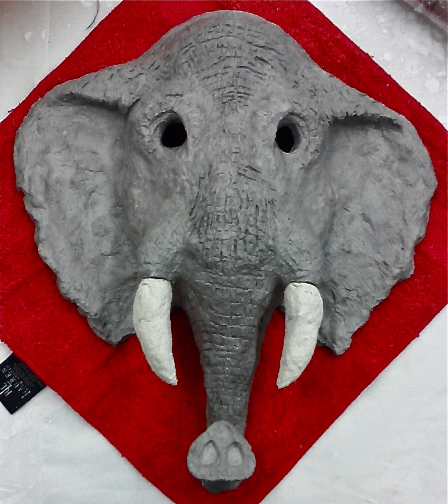 maschera cartapesta elefante