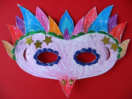 maschera di Carnevale decorazione