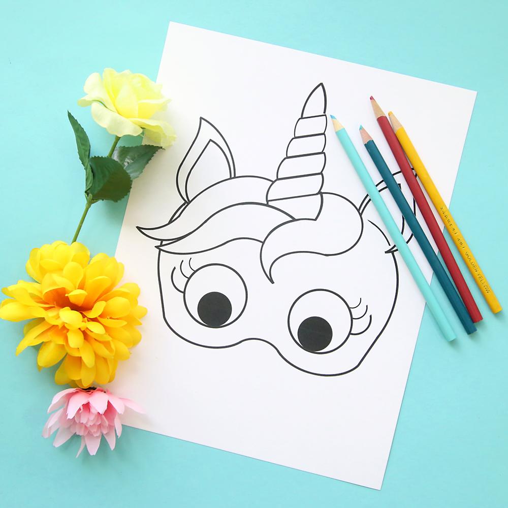 maschera di Carnevale unicorno