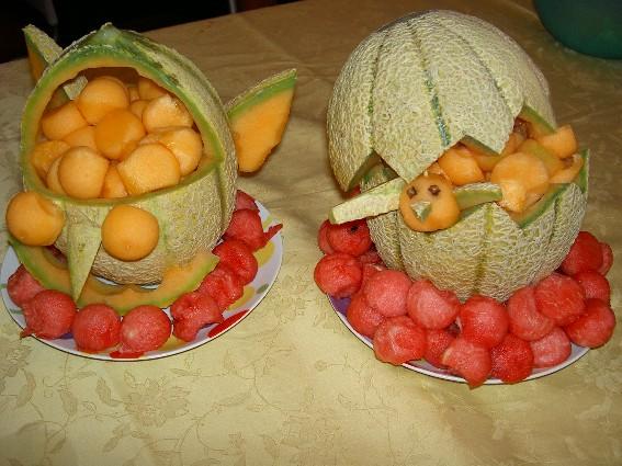 Cestino con il melone