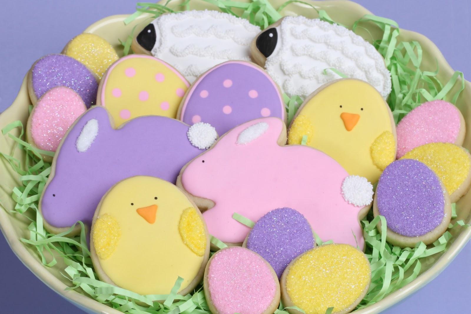 Dolci di Pasqua biscotti glassati