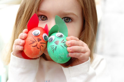Lavoretti di Pasqua uova animaletti