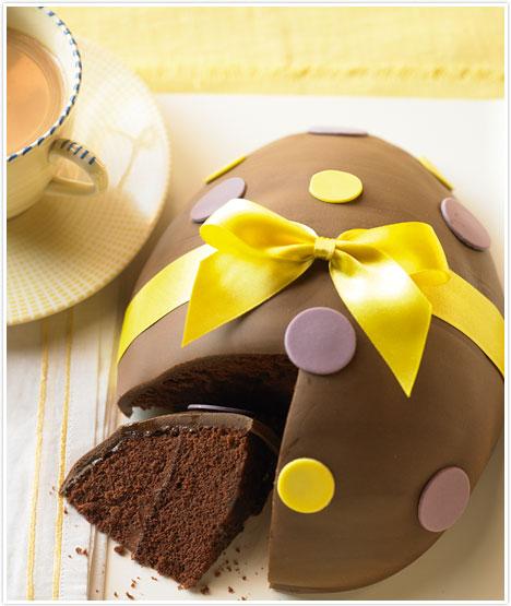 Torta di Pasqua a forma di uovo