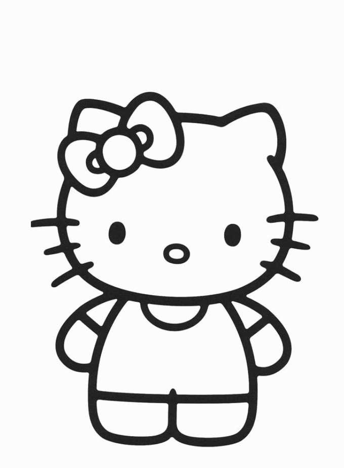 Disegni Di Hello Kitty Da Colorare Foto Pourfemme