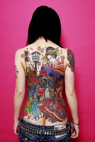 tatuagggio giapponese schiena
