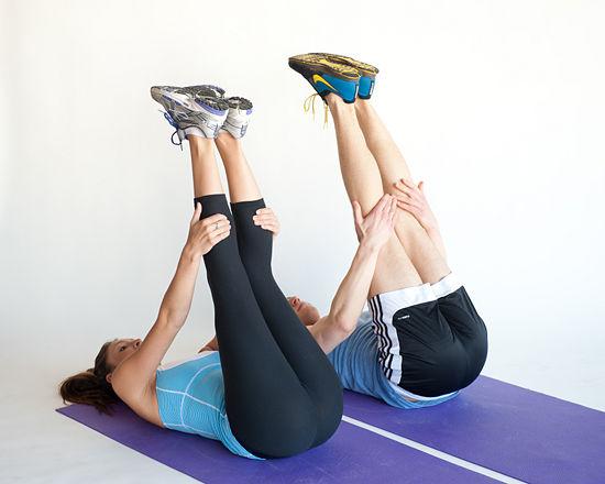 Rilassamento gambe con lo stretching