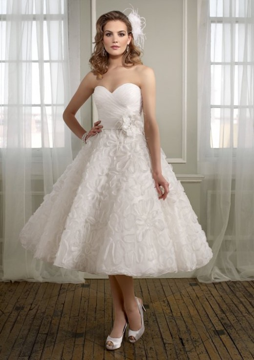 abito da sposa anni 50 gonna ruches