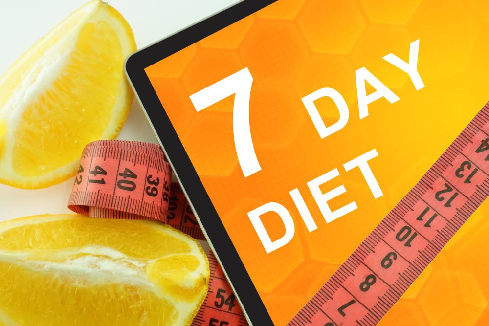 La dieta dei sette giorni per dimagrire velocemente