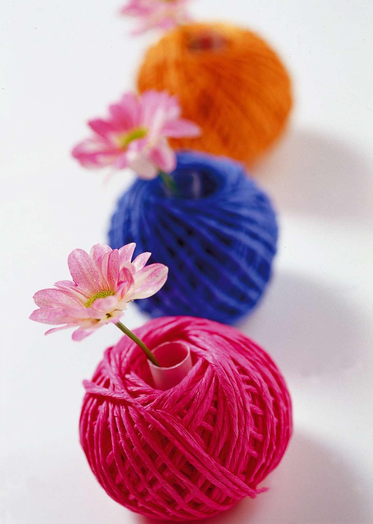 Gomitoli porta fiori