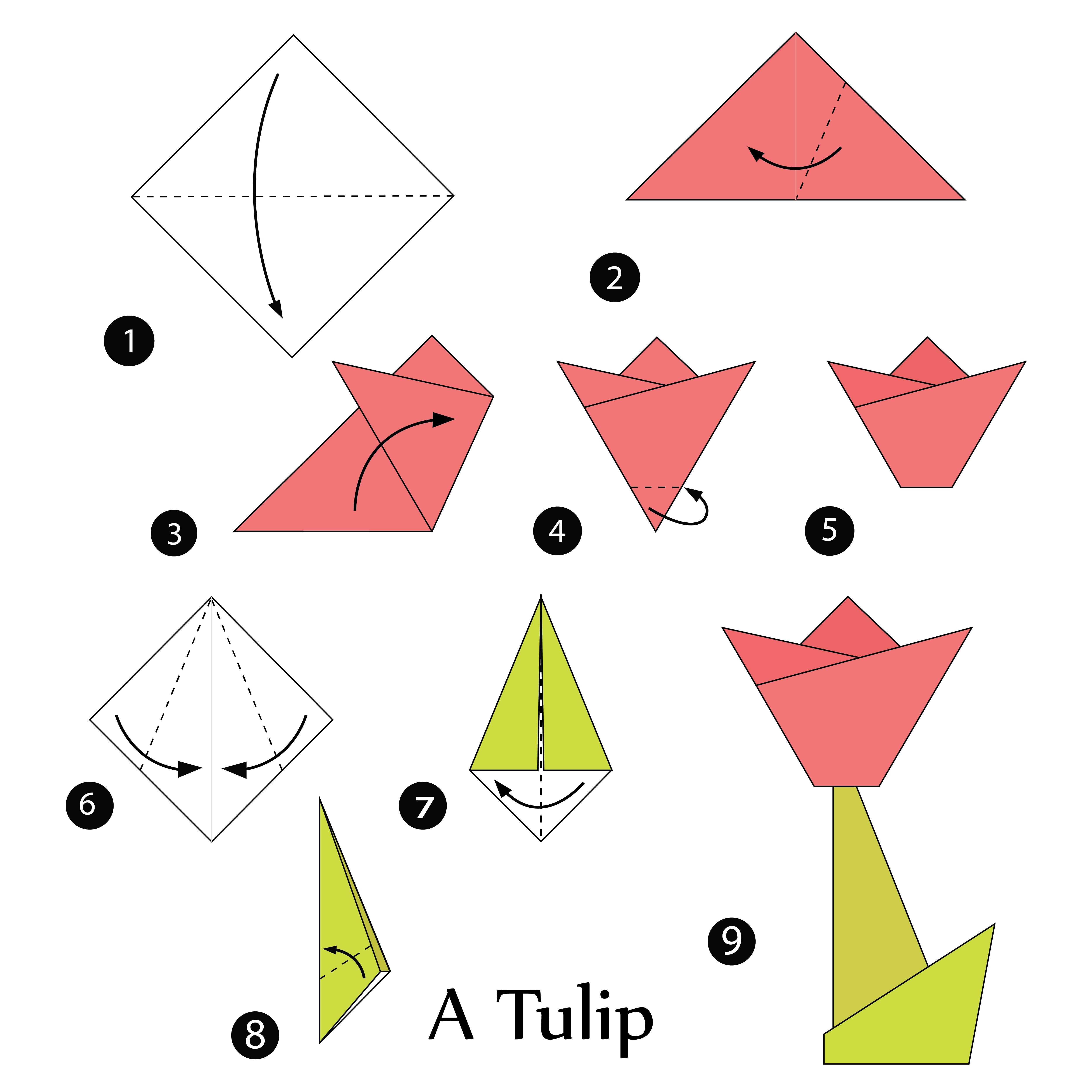 lavoretti festa della mamma fiori carta origami