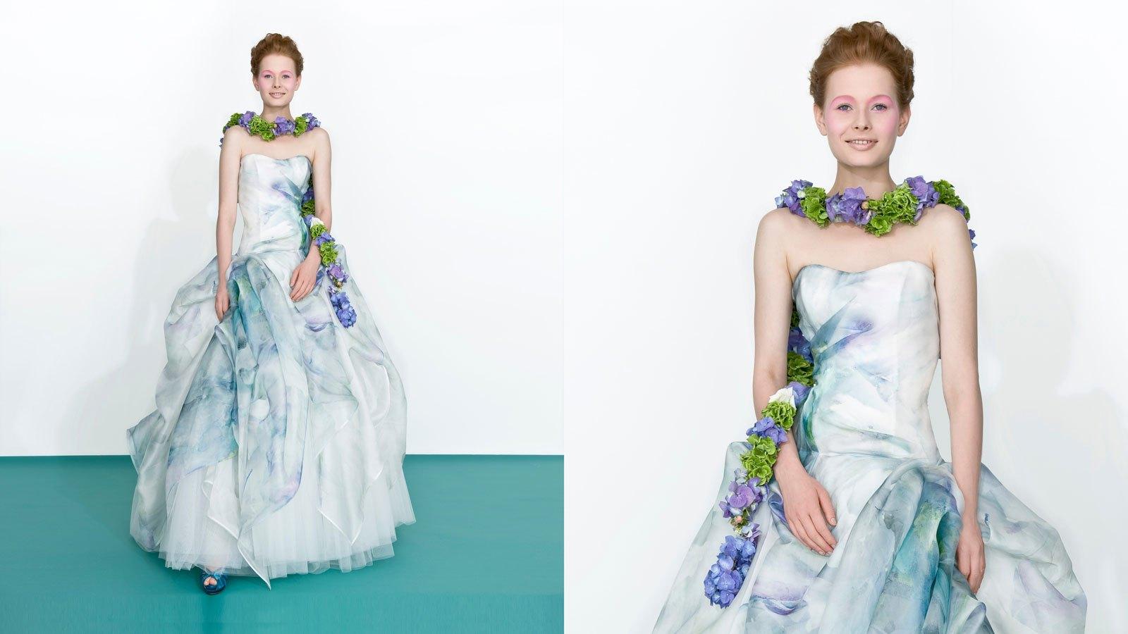 abito da sposa stile 800 colorato