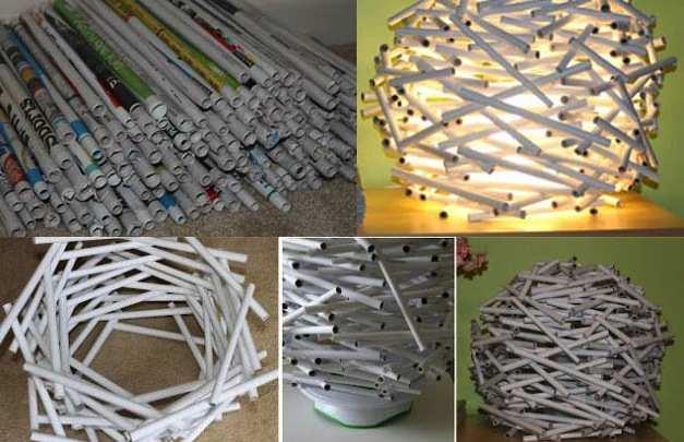 Lampada di carta riciclata