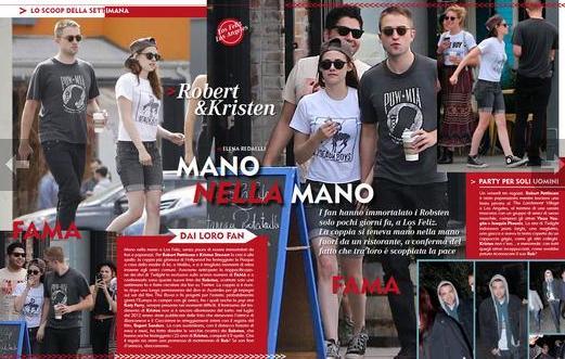 Robert Pattinson e Kristen Stewart mano nella mano