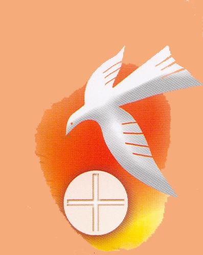 biglietto cresima colomba moderna