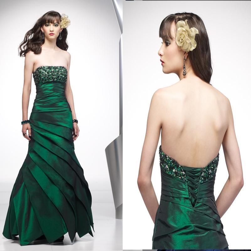 abito cerimonia sirena verde