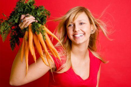Mantenere la linea e l'abbronzatura con la dieta della carota