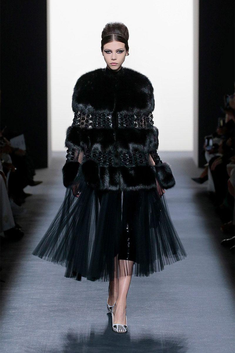 Cappotto con pelliccia Fendi Couture