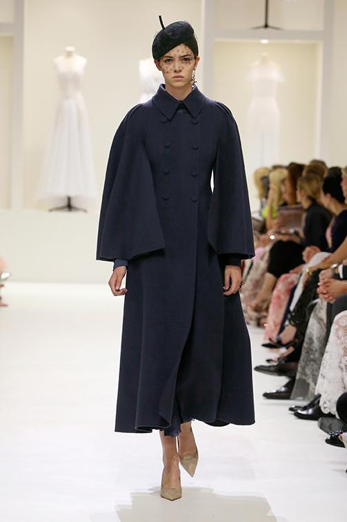Cappotto elegante blu Dior