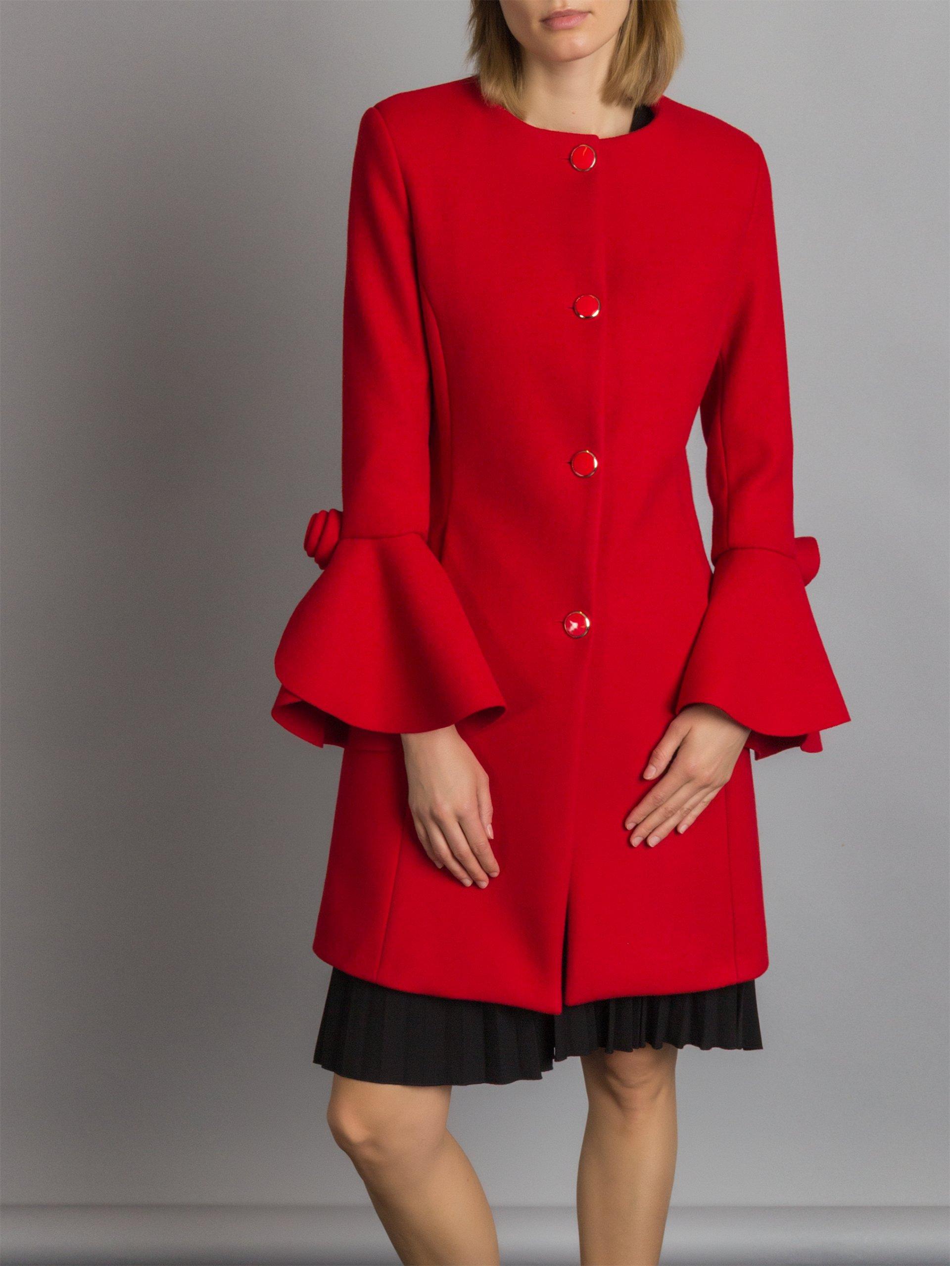 Cappotto elegante rosso Rinascimento a 139 euro