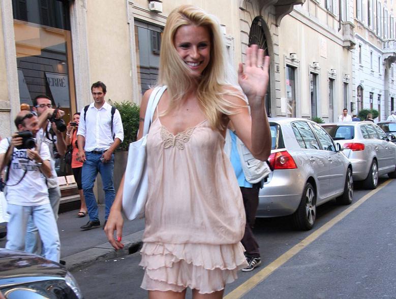 Michelle Hunziker a Milano